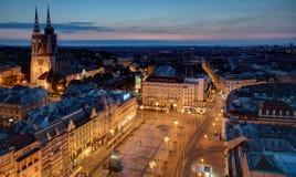 Zagreb at sunrise Stock Photography