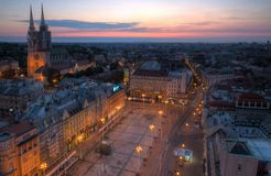 Zagreb at sunrise Stock Photo