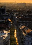 Zagreb at sunrise Royalty Free Stock Photography