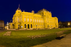 Zagreb - teatro velho Imagens de Stock