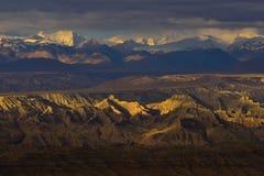 Zagreb to Tibet the morning sun Snow mountain Stock Photo