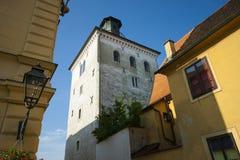Zagreb, torre Lotrscak imagen de archivo