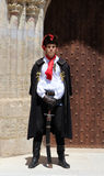 Zagreb Tourist Attraction / Cravat Regiment Guard. The Cravat Regiment member standing in front of St. Mark's Church, Zagreb, Croatia. The Cravat Regiment ( Royalty Free Stock Images