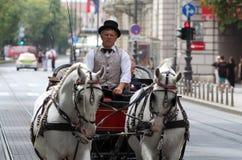 Zagreb Tourist Attraction / Fiacre / Cabman Stock Photos