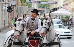 Zagreb Tourist Attraction / Old Carriage Cabman Stock Photography
