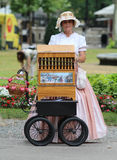Zagreb Tourist Attraction / Organ Grinder Lady Royalty Free Stock Photo