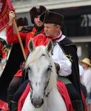 Zagreb-Touristenattraktions-/-krawatten-Regiment-Reiter Stockbilder
