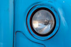 Zagreb, una linterna vieja del autobús foto de archivo libre de regalías
