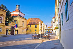Zagreb upper town historic architecture Stock Photography