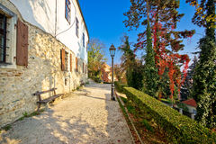 Zagreb upper town park walkway Stock Photography