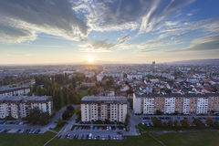 Zagreb urban area Stock Image