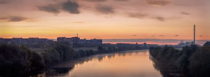 Zagreb van de Brug van Vrijheid wordt bekeken die Royalty-vrije Stock Foto