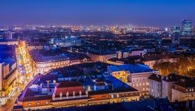 Zagreb van hierboven stock foto