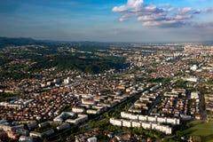 Zagreb van lucht Royalty-vrije Stock Fotografie