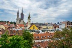 Zagreb van Uppertown royalty-vrije stock foto