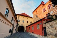 Zagreb - vieja puerta de la fortaleza foto de archivo libre de regalías