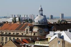 Zagreb - vieja y nueva Fotos de archivo libres de regalías