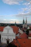 Zagreb view. Old part of Zagreb, Croatia Royalty Free Stock Photography
