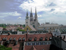 Zagreb view Stock Photography