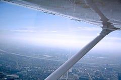 Zagreb vom Flugzeug Stockfotografie