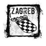 Zagreb znaczek Obraz Royalty Free