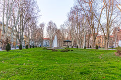 Zagreb Zrinjevac fountain Royalty Free Stock Photos
