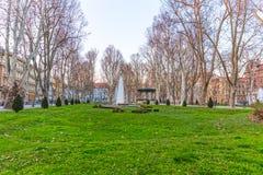 Zagreb Zrinjevac fountain Royalty Free Stock Photos