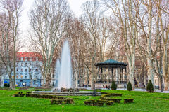 Zagreb Zrinjevac fountain Stock Image