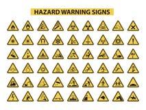 zagrożenie podpisuje ostrzeżenie Zdjęcie Stock