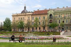 Zagrzeb park city Fotografia Royalty Free