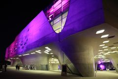 Zaha Hadid architecture in Wolfsburg, Germany stock images