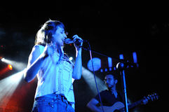 Zahara (band) perfoms at Bikini stage Stock Images