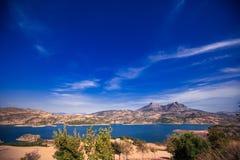 Zahara behållare, Andalusia, Spanien Royaltyfri Fotografi