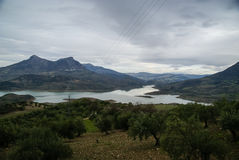 Zahara de la Sierra, Andalusia, Spain stock photography