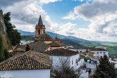 Zahara de la Sierra located in the Sierra de Grazalema, Andalusia, Spain.