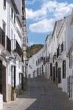 Zahara de la Toppig bergskedja, Cadiz. Arkivfoto