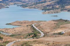 Zahara El Gastor Reservoir Stock Photos