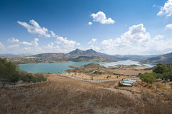 Zahara El Gastor Reservoir Royalty Free Stock Photos