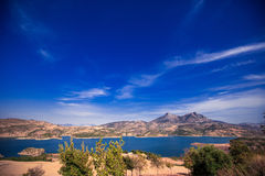 Zahara reservoir, Andalusia, Spain. Views of Zahara Gastor Reservoir, Cadiz, Andalusia, Spain Royalty Free Stock Photography