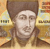 Zahari Zograf. On 100 Leva 1993 Banknote from Bulgaria. Most famous painter of the Bulgarian national revival Stock Photography