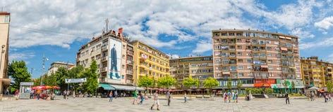 Zahir Pajaziti quadrado em Pristina fotos de stock