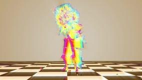 Zahl belebt und Tanzen vektor abbildung