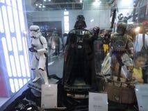 Zahl Darth Vader, Boba Fett u. des Stormtrooper in Ani-COM u. in den Spielen Hong Kong 2015 Stockbilder