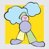 Zahl in den Pastellfarben mit Wolken Lizenzfreie Stockfotos