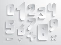 Zahl der einfachen Form und Zeichensatz Stockbilder