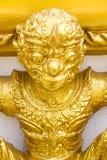 Zahl des buddhistischen Engels in einem Tempel Stockbilder