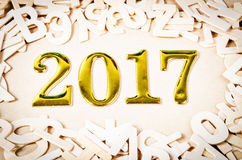 Zahl des Gold 2017 Lizenzfreies Stockfoto