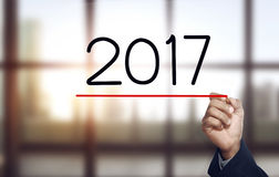 Zahl des Handabgehobenen betrages 2017 Lizenzfreie Stockfotografie