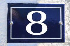 Zahl des Hauses in der blauen Farbe Lizenzfreie Stockbilder