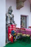 Zahl des mittelalterlichen Ritters in Budapest, Ungarn Stockfotos